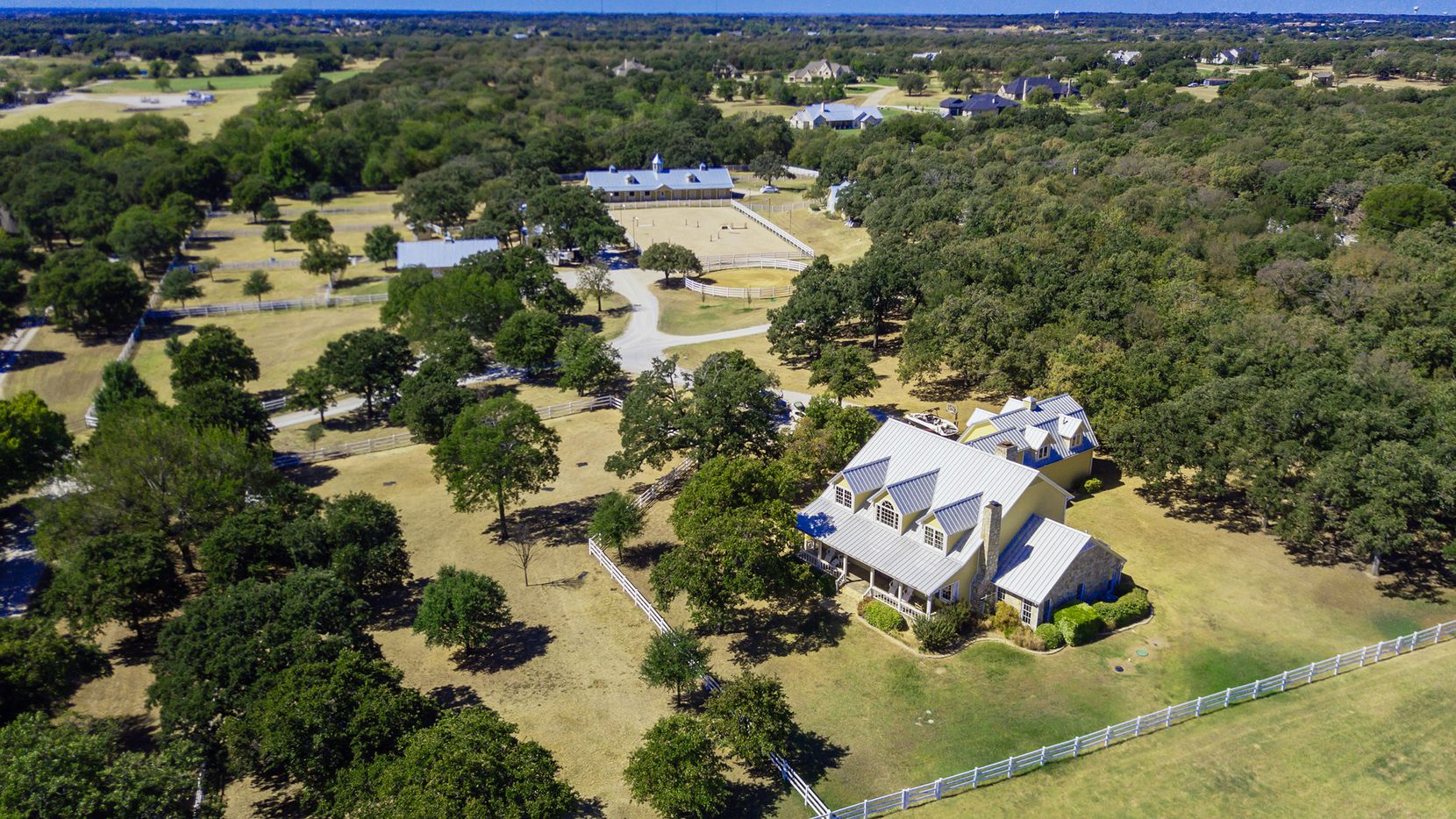 The 20-acre equestrian ranch at 1310 Gibbons Road in Bartonville will auction without reserve to the highest bidder via Concierge Auctions. Bidding will be held Nov. 12 to 15.