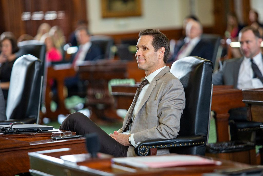 State Sen. Nathan Johnson as seen on the Senate floor just before Sine Die at the State Capitol of Texas on May 27, 2019 in Austin, Texas.