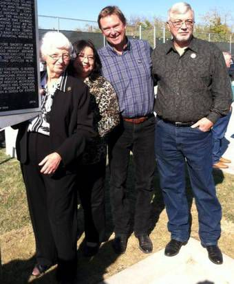 J.D. Tippit's family — (from left) wife Marie, daughter Brenda and sons Curtis and Charles Allan — were photographed at a Nov. 20, 2012, ceremony in Oak Cliff honoring their father.