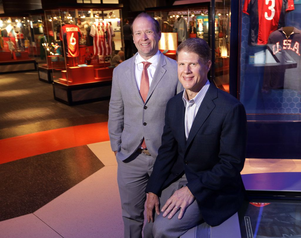 FC Dallas president Dan Hunt (left) and brother Clark Hunt, CEO of Hunt Sports Group, played a large role in bringing the National Soccer Hall of Fame to Frisco's Toyota Stadium.