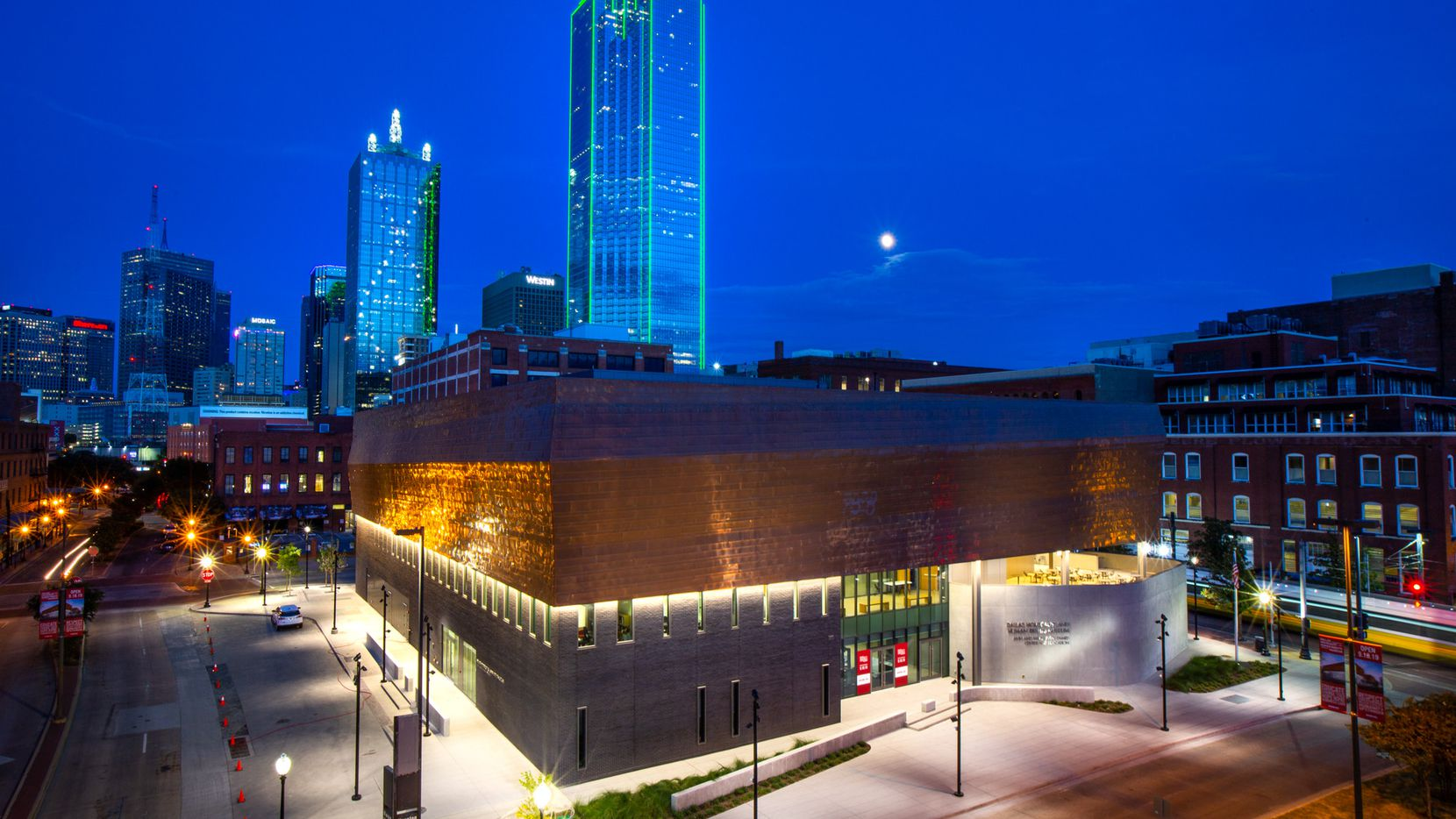This Sept. 11, 2019 file photo shows the then-new Dallas Holocaust and Human Rights Museum.