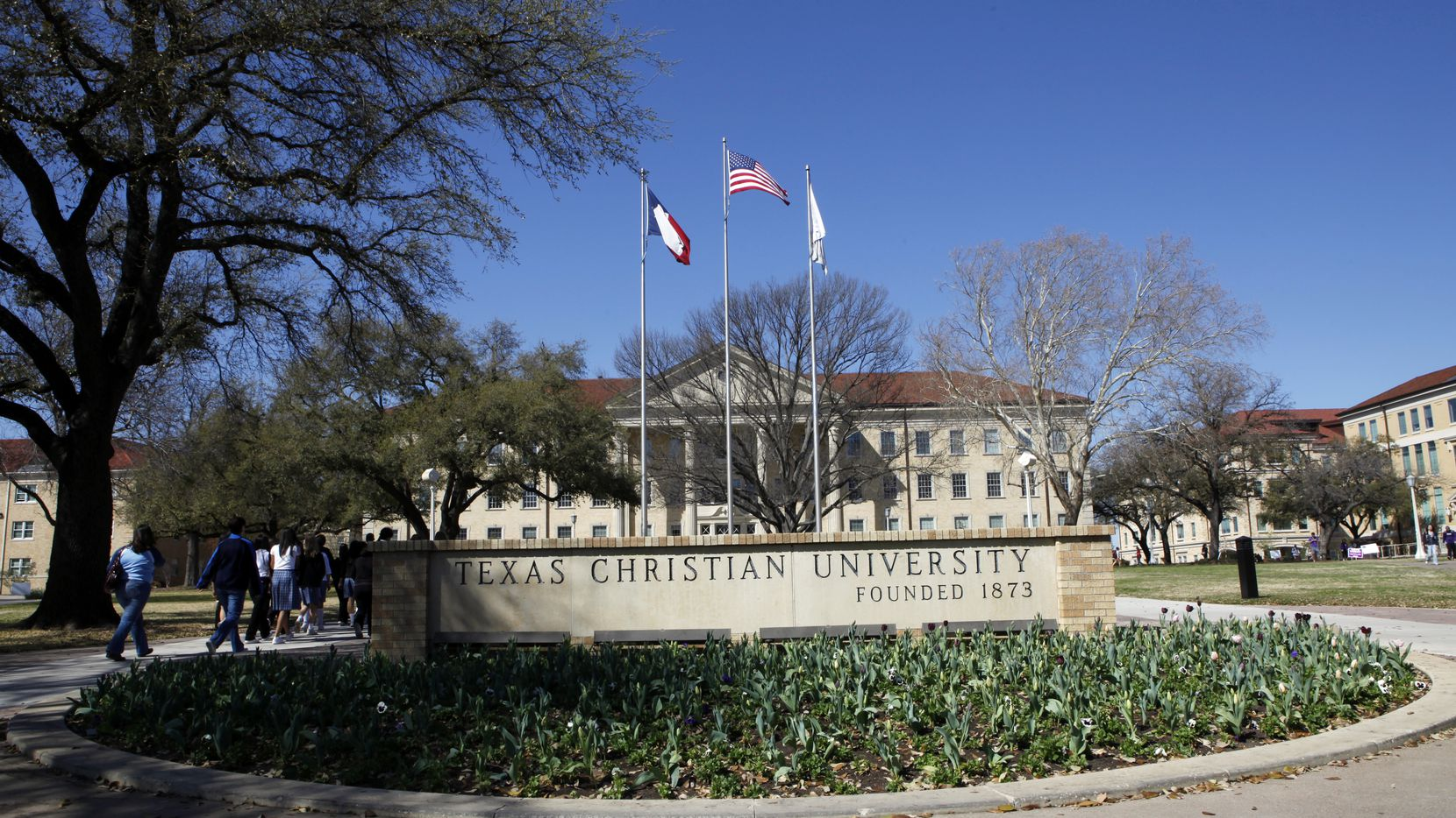 Campus tour groups at Texas Christian University in Fort Worth on Friday, March 11, 2011.