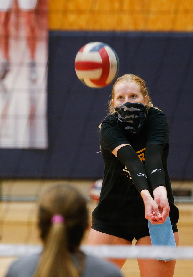 Flower Mound High School volleyball outside hitter 
