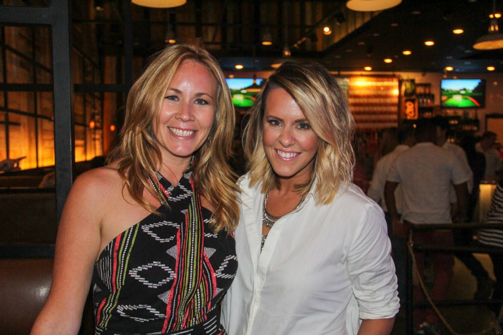 Kara Cook and KVIL radio personality Courtney Kerr attended the #TBT to the '80s party on Thursday at the Rustic.