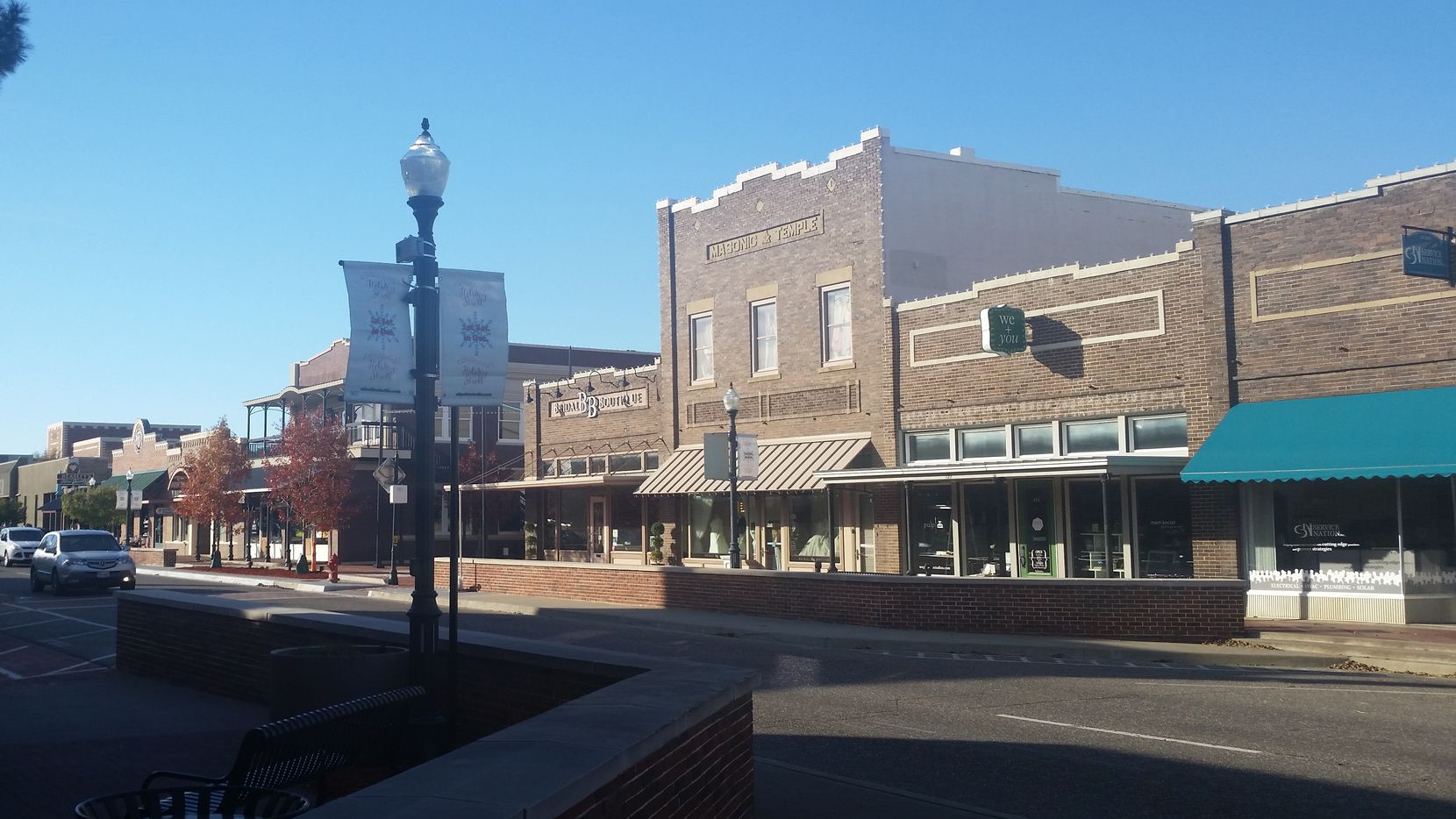 Lewisville's historic Old Town district has buildings dating to the early 20th century.