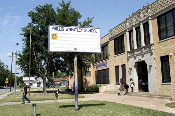Children will soon be leaving Phillis Wheatley Elementary School for good. It's one of nine DISD campuses being shuttered to save money.