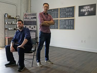 Rakkasan Tea Company co-founders and veterans Terrence Kamauf (left) and Brandon Friedman should know how to get approval for an SBA loan from Friedman's experience in the federal bureaucracy.  But like many businesses, they waited three months for a life-changing loan before being turned down.