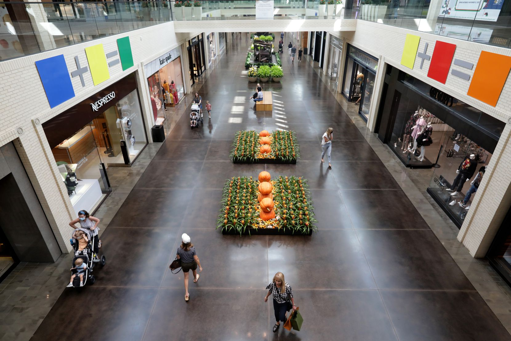 Fall is back at NorthPark Center in Dallas.