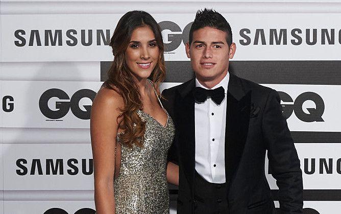 Daniela Ospina y James Rodriguez en una entrega de premios en noviembre del 2015/ GETTY IMAGES