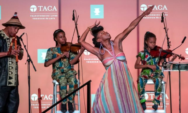 """Will Richey and Friends presents """"Dallas; A Glimpse of our Soul"""" at the 41st Annual Silver Cup Award luncheon at the Fairmont Hotel Dallas. Photo from TACA."""