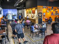 Customers fill the El Rincon del D.F. restaurant during the lunch hour in Dallas on Wednesday, Oct. 21, 2020. The restaurant re-opened Wednesday after a tornado destroyed the building a year ago. That wasn't the only setback: the Ramirez family couldn't reopen their business for a year because of the COVID-19 pandemic, a suicidal car crash and their own contagion of coronavirus. (Lynda M. González/The Dallas Morning News)