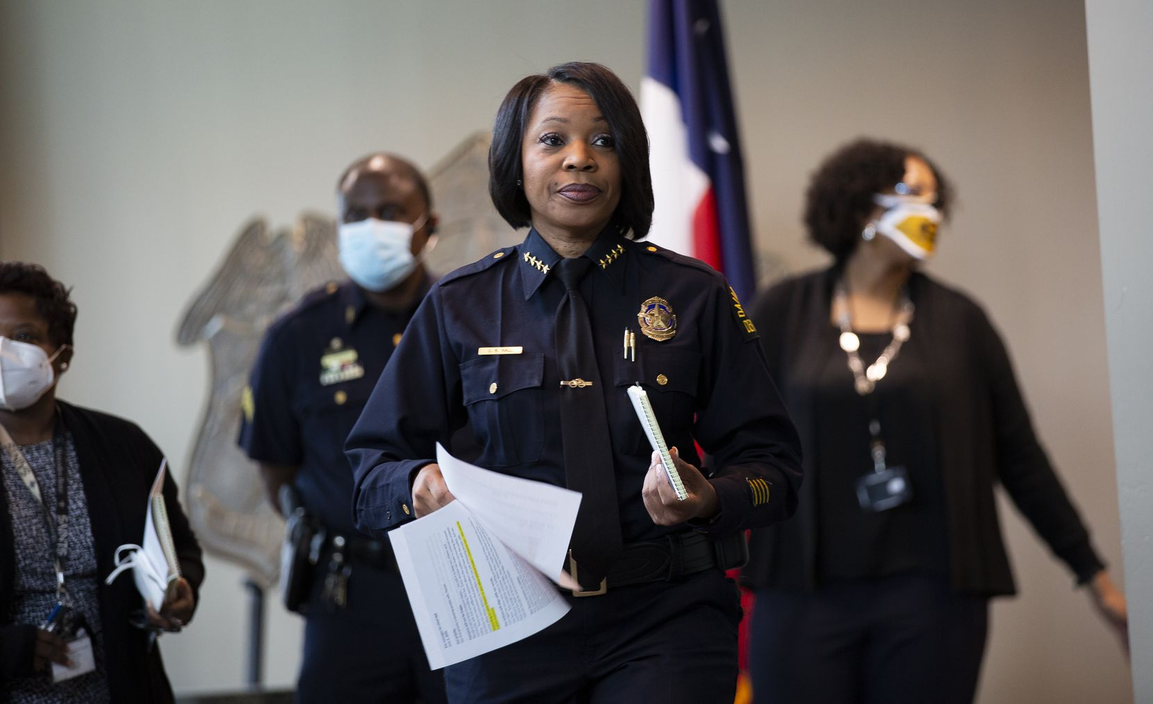 Dallas Police Chief U. Reneé Hall at police headquarters on June 2, 2020.