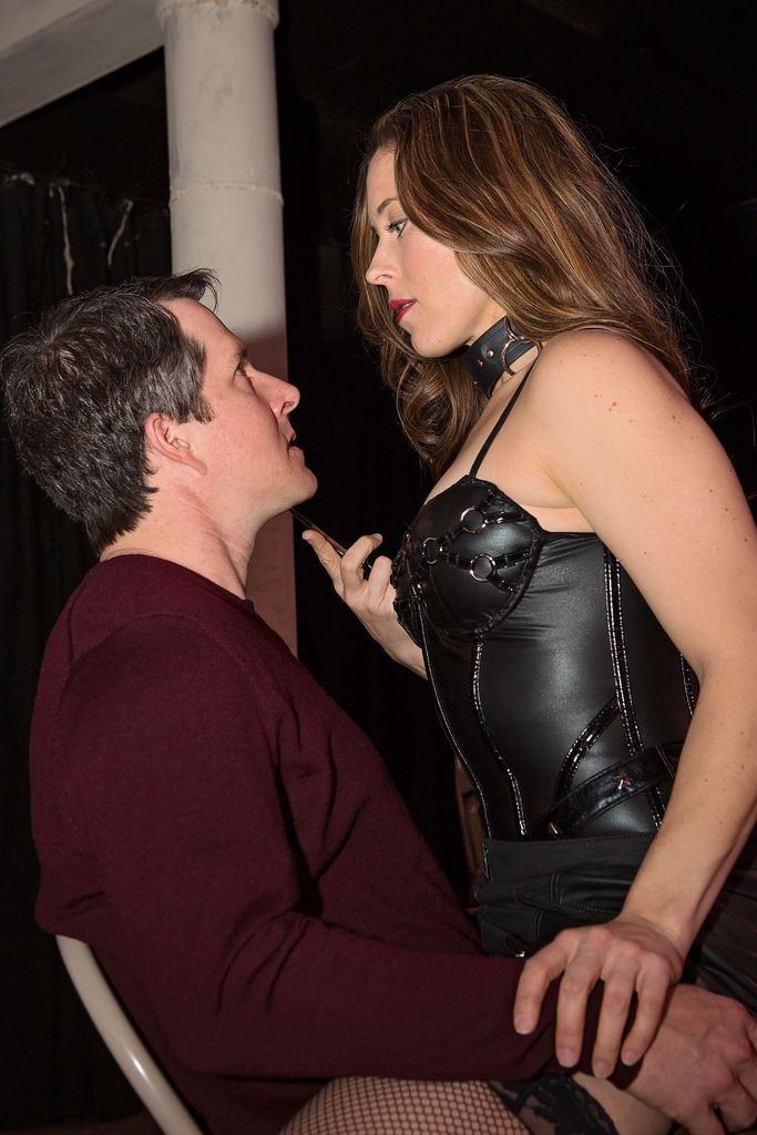 Chris Hury as Thomas and Allison Pistorius as Vanda in the 2014 production of 'Venus in Fur' at Circle Theatre in Fort Worth.