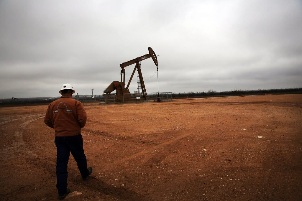 A Permian Basin oil well owned and operated by Apache Corporation in Garden City.
