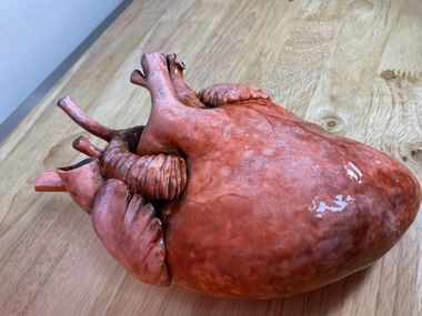 Crabby Cakes' heart cake has been popular with doctors and horror movie fans.