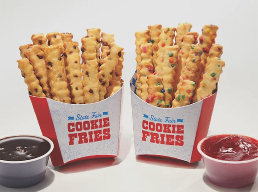The Most Creative dish at this year's State Fair of Texas is concessionaire Isaac Rousso's cookie fries. Yep, those are cookies in the shape of french fries, served with chocolate or strawberry dipping sauce.