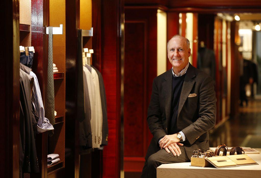 Stanley Korshak owner Crawford Brock in the men's department of Stanley Korshak in Dallas.