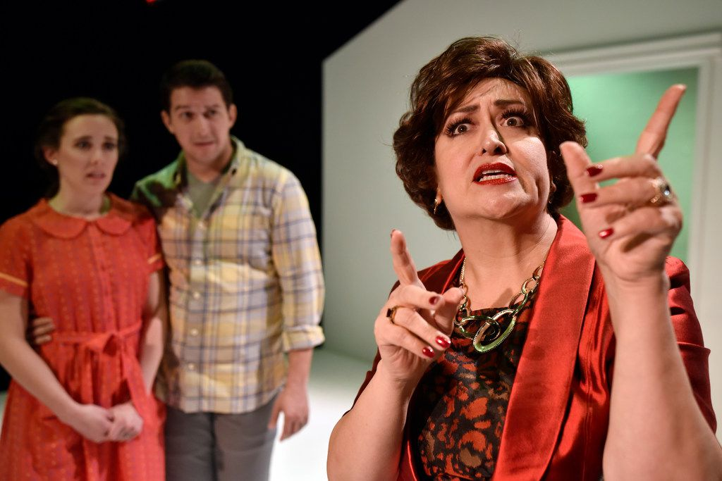 Kateri Cale (right), Kristen Lazarchick and Jake Buchanan star in Kitchen Dog Theater's Radiant Vermin.