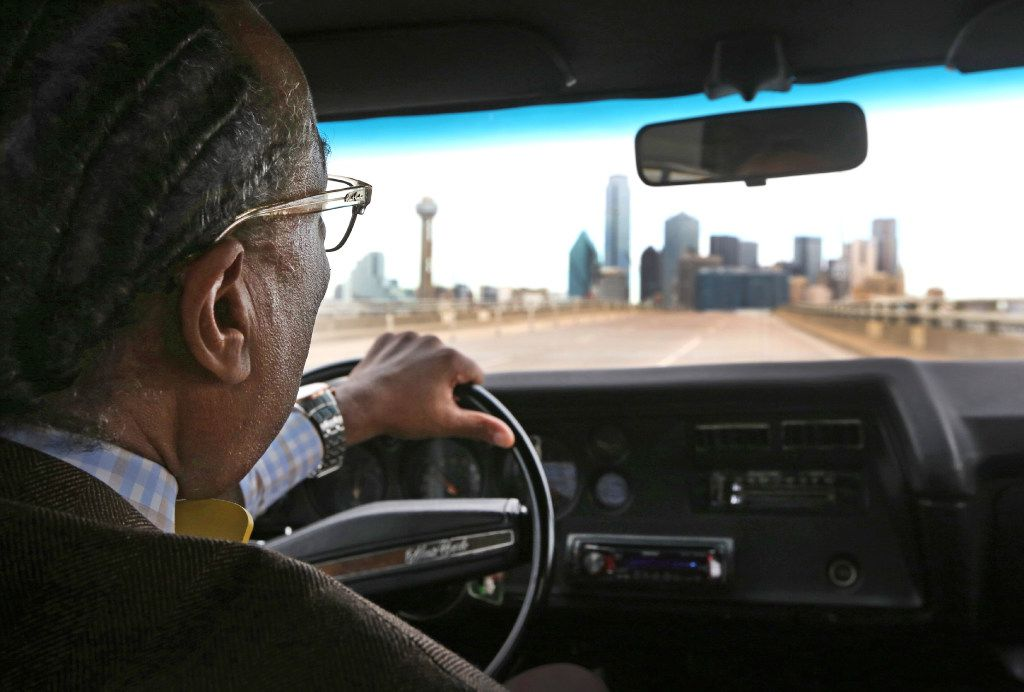 Dallas County Commissioner John Wiley Price drives back to downtown Dallas in one of his vintage collectable cars after revisiting his childhood home in Forney, Texas, photographed on Friday, December 30, 2016.