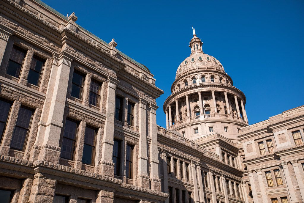 The Texas state capitol building in Austin, Texas on May 14, 2019.(Julia Robinson/Special Contributor)