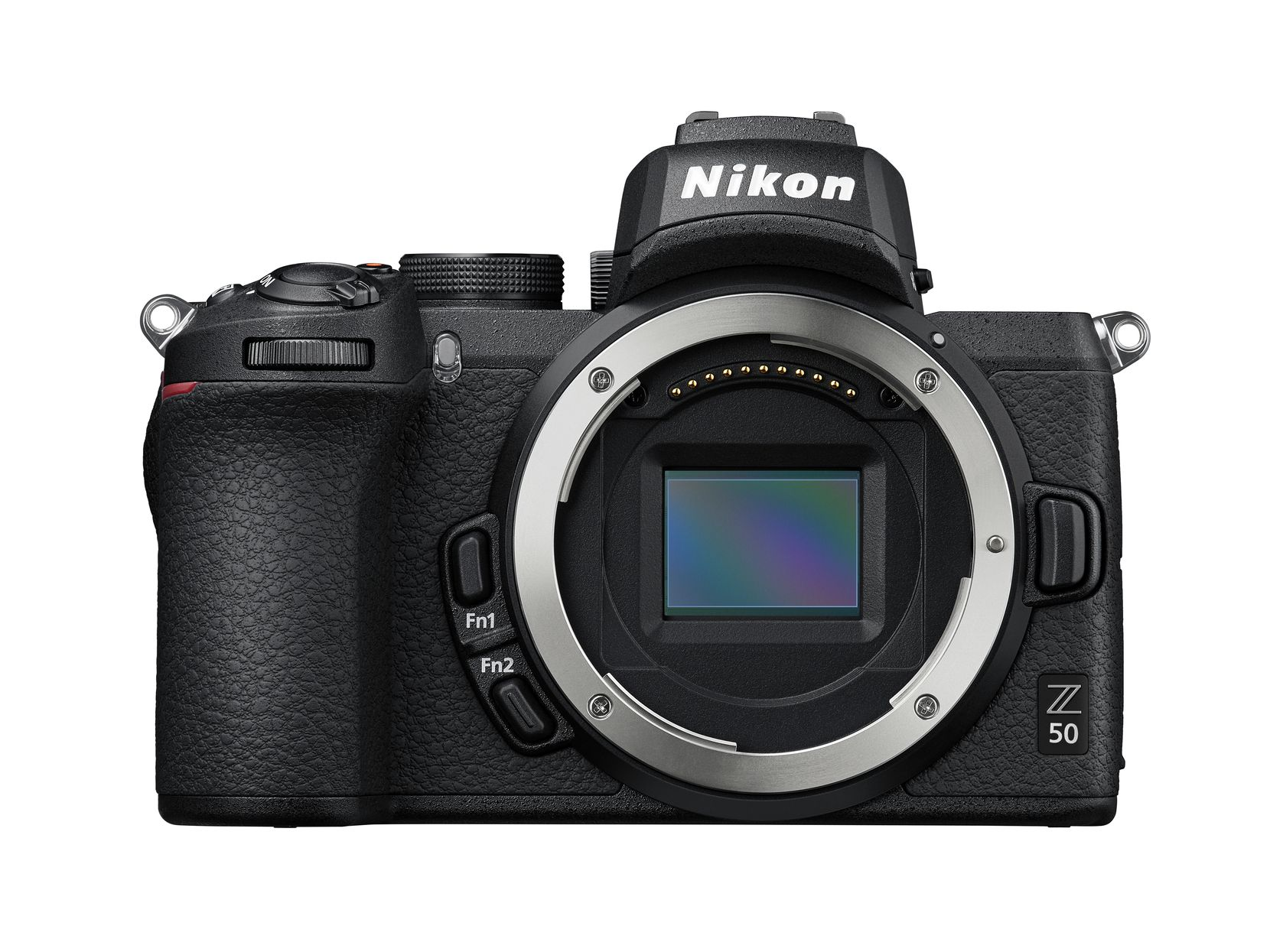 Nikon Z 50 body, showing the sensor and Z-mount.