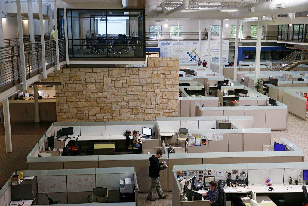 ***FOR TOP 100 - DO NOT USE *** The building was formerly used as a workout facility but is now housed by Tyler Technologies in Plano, Texas on Thursday, August 23, 2018. (Vernon Bryant/The Dallas Morning News)