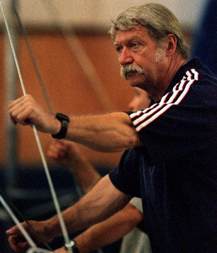 In the spring of 2000, Bela Karolyi watched over U.S. Olympic gymnastics team members as they worked on their routines in his gym on his ranch near Huntsville.