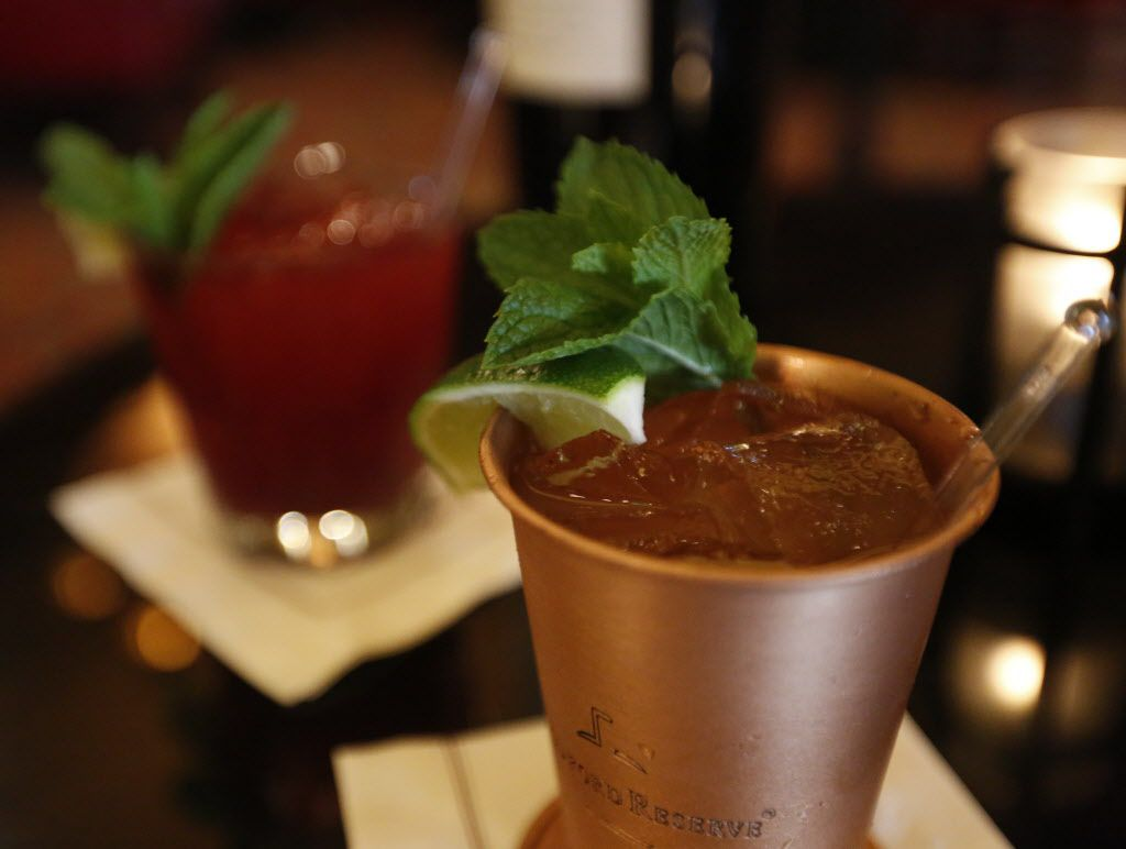 A mint julep, served as a Kentucky Derby special, is shown at the Library Bar at the Warwick Melrose Hotel on Saturday, May 2 2015 in Dallas.