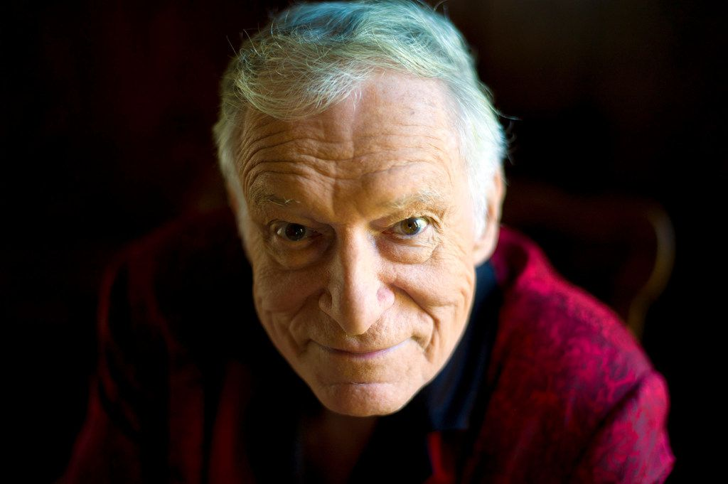 FILE - This Oct. 13, 2011 file photo shows American magazine publisher, founder and Chief Creative Officer of Playboy Enterprises, Hugh Hefner at his home at the Playboy Mansion in Beverly Hills, Calif. Playboy  magazine founder and sexual revolution symbol Hefner has died at age 91. The magazine released a statement saying Hefner died at his home of natural causes on Wednesday night, Sept. 27, 2017, surrounded by family.