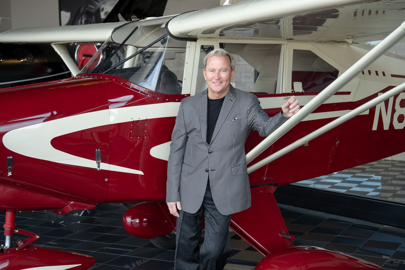 Mark Wyant with his Piper PA-22 Tri-Pacer, which won Grand Champion at the world-renowned Oshkosh AirVenture in 2017.