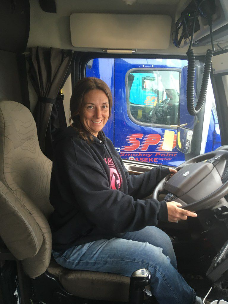 Melody Poe has been driving for Daseke's Smokey Point Distributing in Arlington, Wash., for a year. She says the new stock plan will give her reason to stay with the Addison-based company.