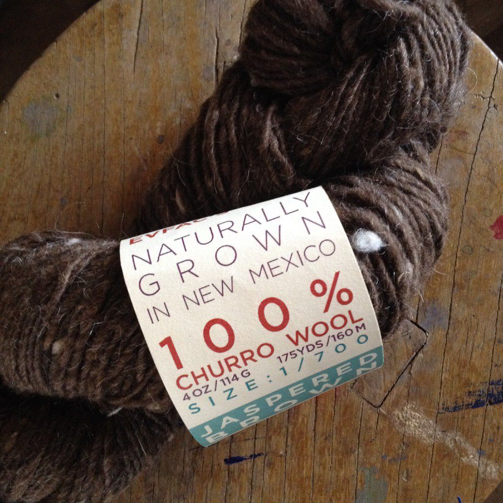 New Mexico's churro wool is typically thick and chunky, in earthy colors like browns and tans. This skein is from Espanola Valley Fiber Arts Center, organizer of the New Mexico Fiber Crawl in May.