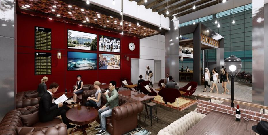 Travelers can lounge with a beer and listen to live music at the Flying Square, a new concept from the Flying Saucer at DFW International Airport.