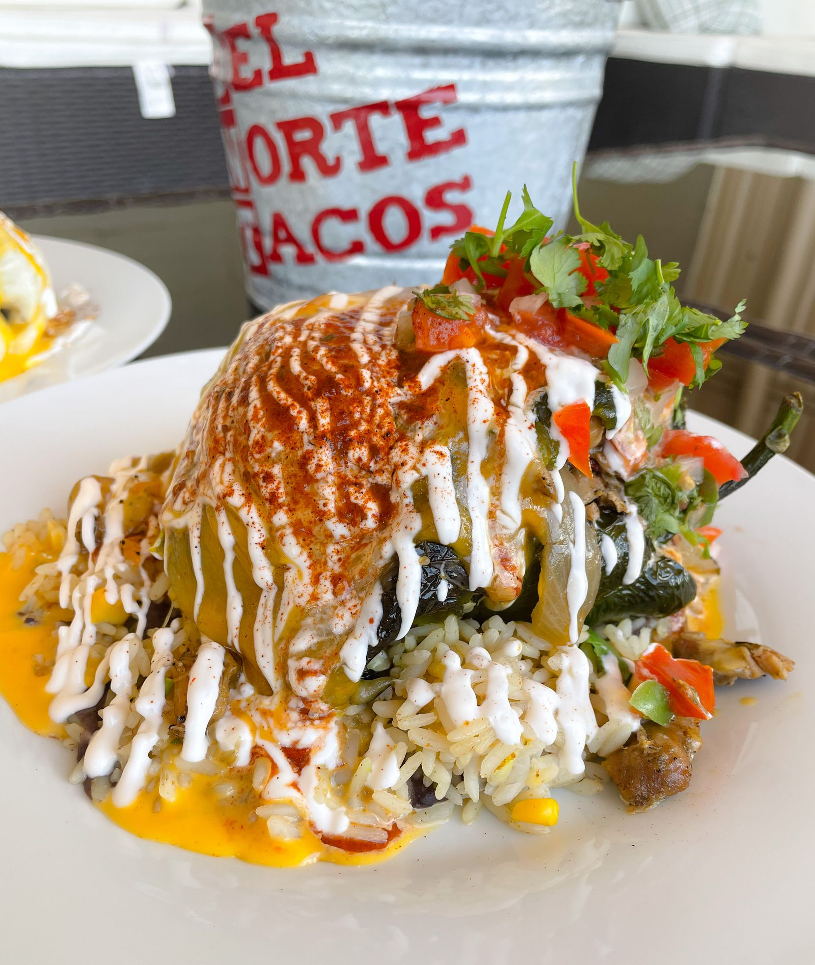 Del Norte Tacos in Godley, Texas, offers authentic Tex-Mex like chile relleno.