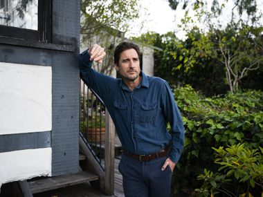 Luke Wilson poses for a portrait at his Santa Monica home in April.