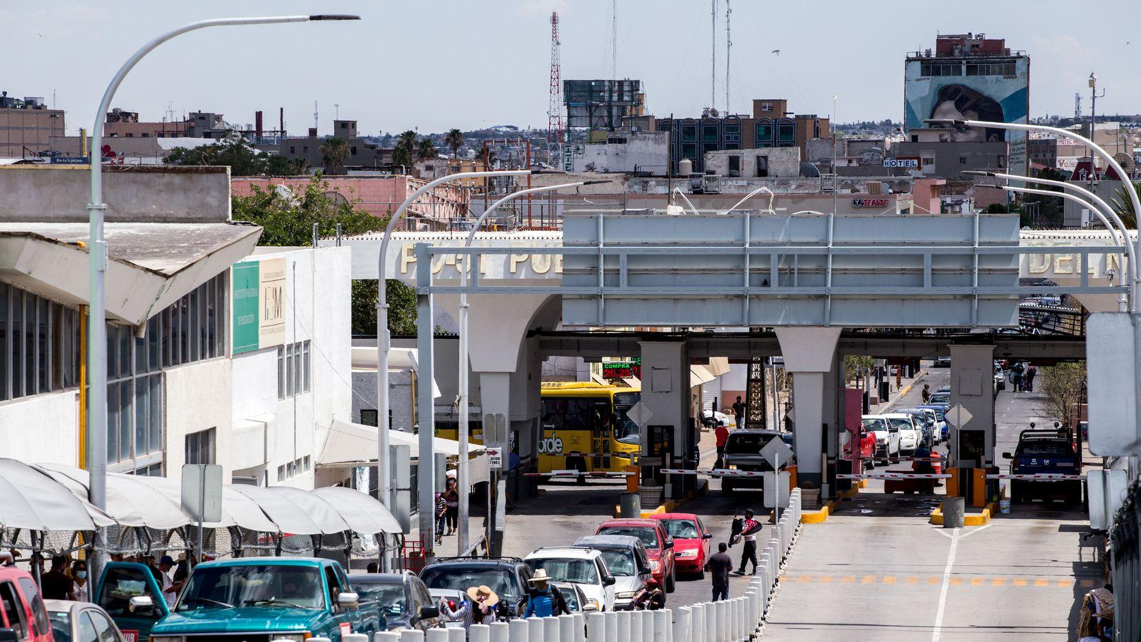 Paso fronterizo entre El Paso, Texas y Ciudad Juárez, Chihuahua. El tránsito ha estado limitado desde marzo de 2020.