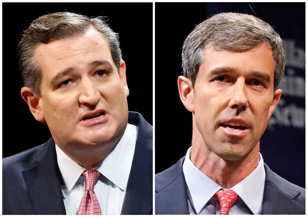 During their first debate, Sen. Ted Cruz (left) hurled haymakers at Rep. Beto O'Rourke, who initially offered objections but let many of the incumbent's punches go unanswered.
