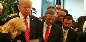 Robert Jeffress in Donald Trump's New York office earlier this year