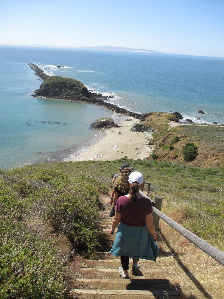 Locals and visitors spend a morning on one of the free Pecho Coast Trail guided hikes on the bluffs by Avila Beach.