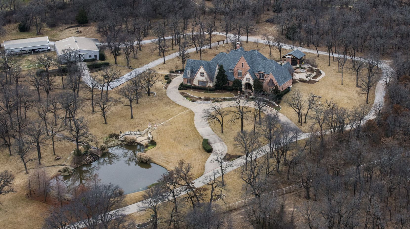 The home of ExxonMobil CEO Rex Tillerson on Wednesday, January 4, 2017 in Bartonville, Texas.