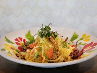 The Lao Mango Salad at Khao Noodle Shop is a new dish at the two-year-old Laotian restaurant.