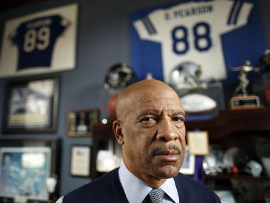 Former Dallas Cowboys receiver Drew Pearson poses for a portrait in his home in Plano on Friday, December 14, 2012. Pearson was in a 1984 car crash in which he was driving that left his younger brother Carey Pearson dead.
