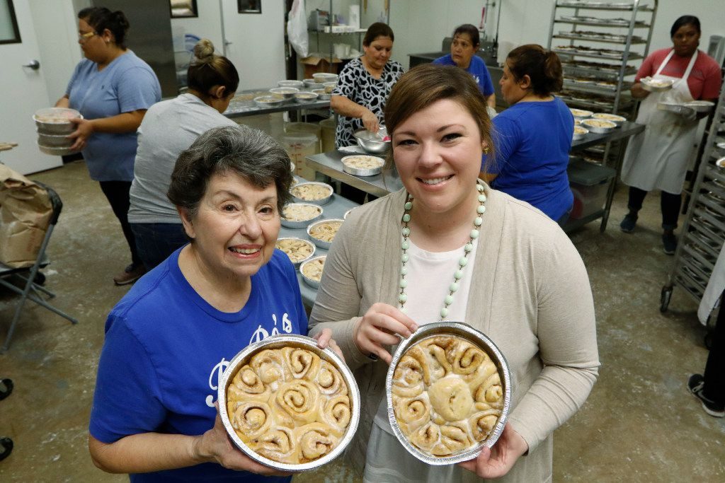 Rochelle Trainer (left) and her granddaughter Amy Collins are co-owners of RoRo's Baking Company in Dallas.