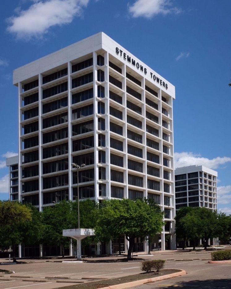 The Stemmons Towers complex, a campus of crisp towers defined by their exposed concrete structural system, was the work of Harwell Hamilton Harris, one of the leading architects of the period, but best known for his residential work. They are now mostly vacant, a concern for preservationists and architects who rightly admire the buildings for their sensitive arrangement and bold design.