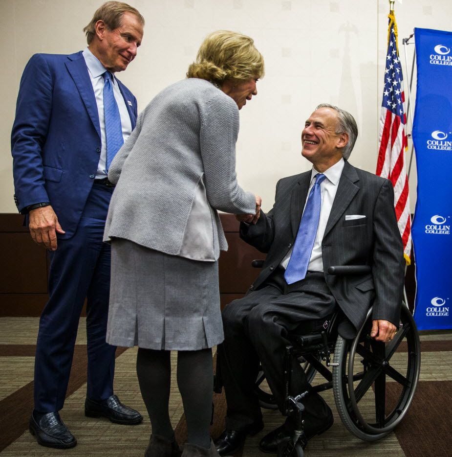 Texas Gov. Greg Abbott waits offstage before speaking during a campaign event. (AP Photo/Darren Abate)