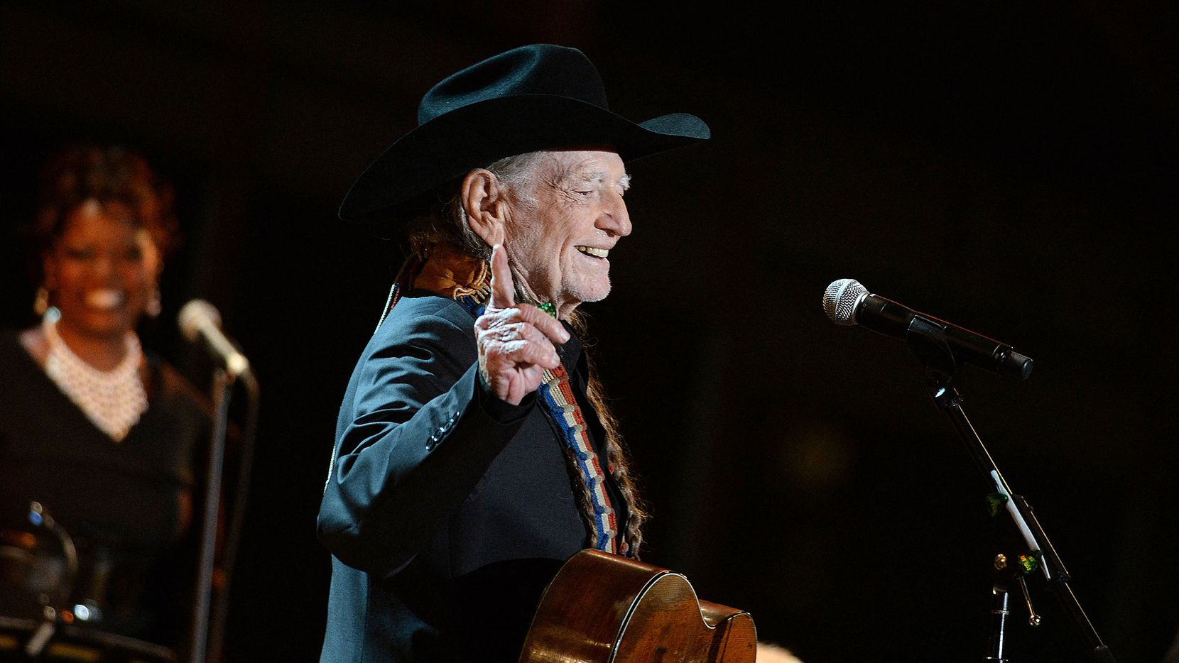 Singer Willie Nelson performs at A Salute to the Troops: In Performance at the White House concert on the South Lawn on Nov. 6, 2014 in Washington, D.C.
