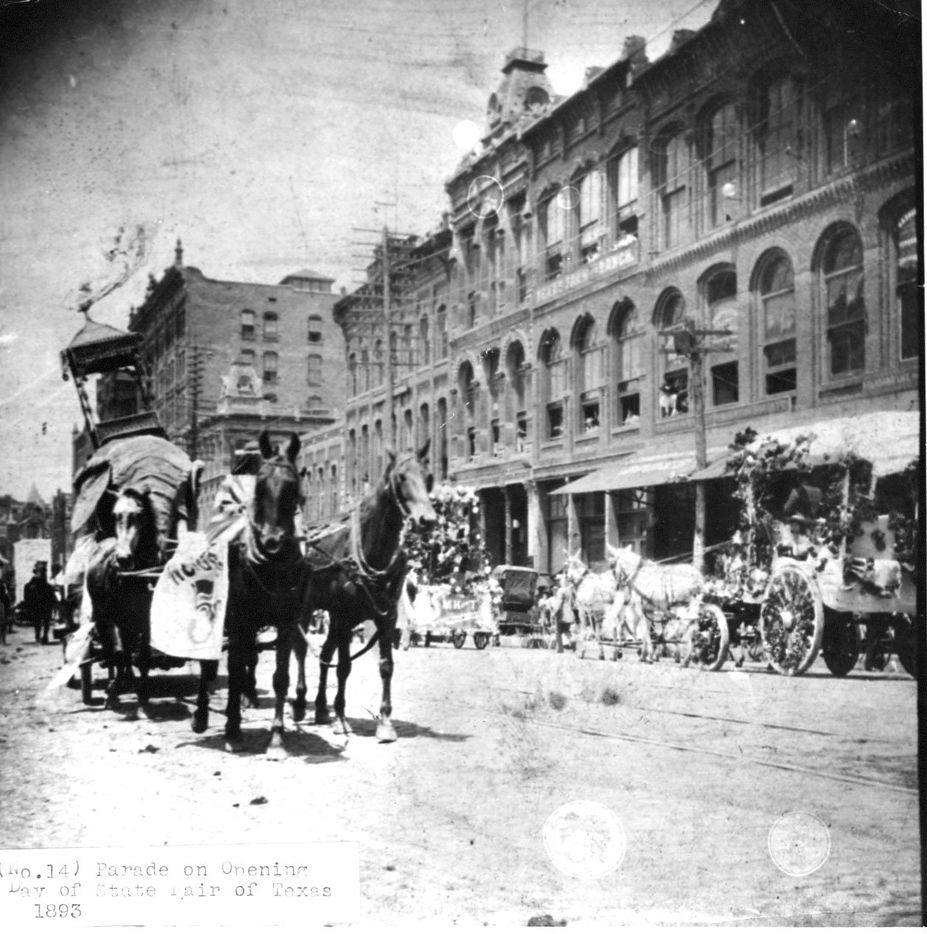 Parade on opening day of the State Fair of Texas, 1893.