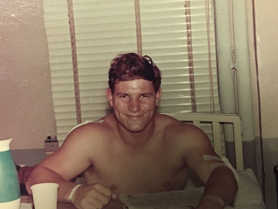 Navy Hospital Corpsman Mike Kuklenski spent a month at a hospital in Japan recovering from wounds he received during a battle near Da Nang, Vietnam, on May 29, 1969.