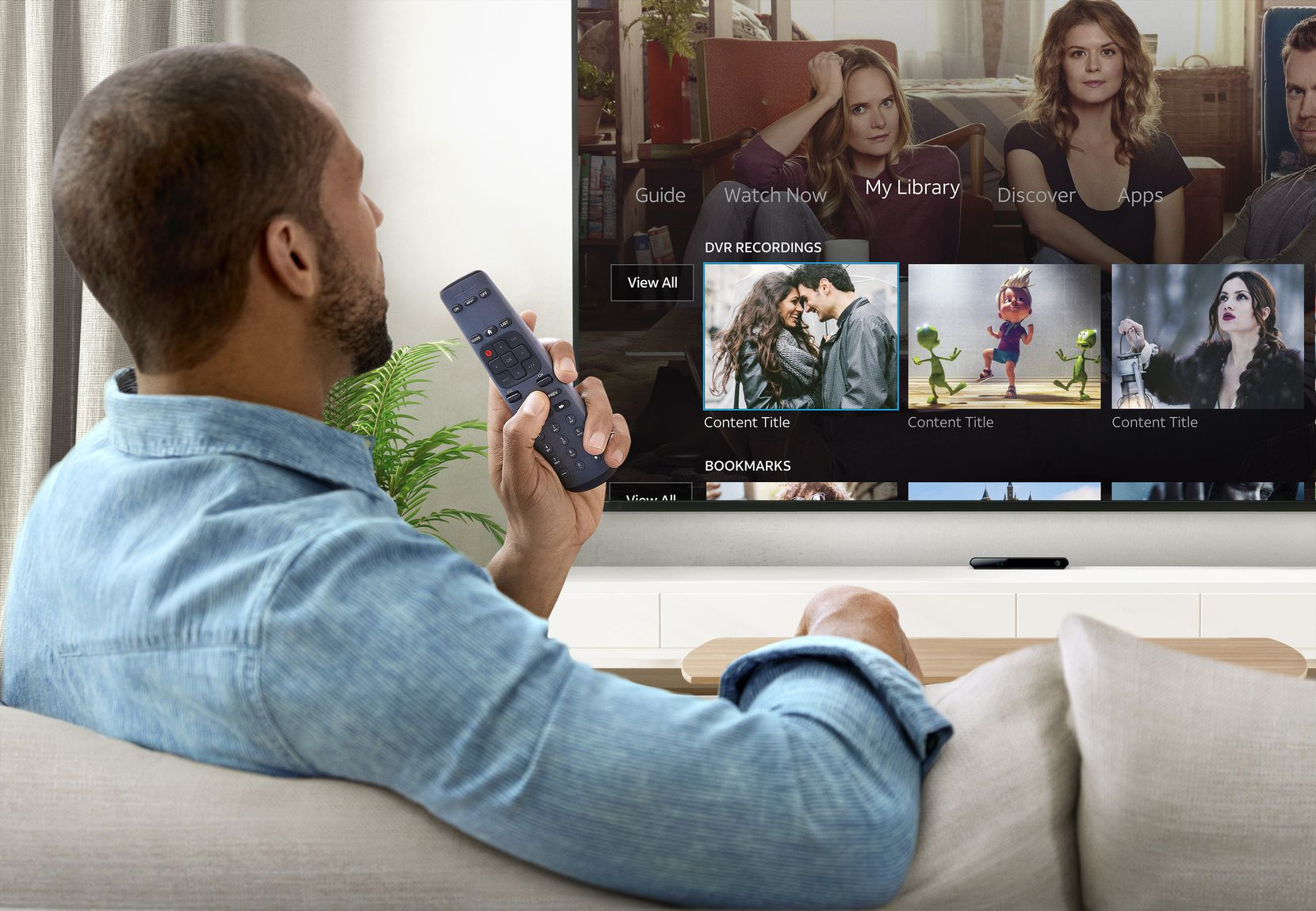 AT&T TV user with voice remote.