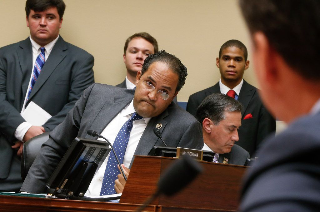 Rep. Will Hurd, R-San Antonio (center) has proposed a plan that would protect young immigrants and beef up border security.